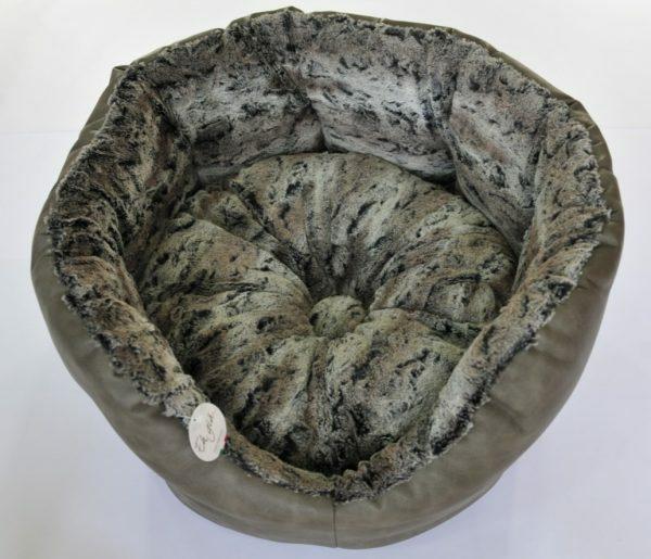 Hondenmand met dik opgevulde rug diameter 60 cm