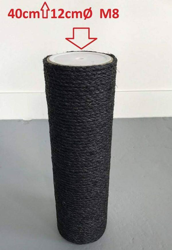 Krabpaal onderdelen Sisalpaal 40x12 M8 BLACKLINE