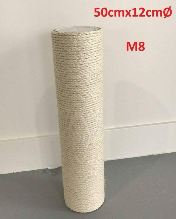 Krabpaal onderdelen Sisalpaal 50x12 M8