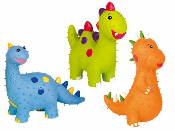 Speelgoed hond latex dinosaurus As.15cm