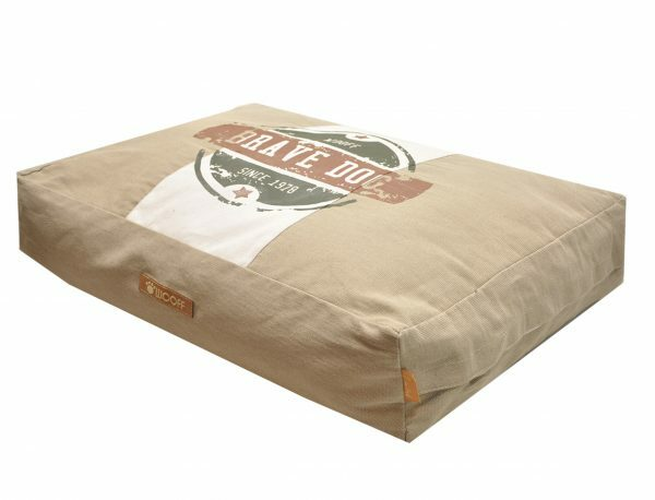 Matras Wooff Brave Dog zand 110x70x15cm
