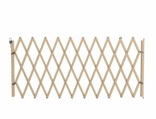 Hek hout accordeon bruin 60-230cm