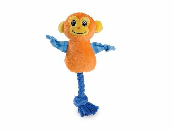Speelgoed hond mini pluche aap 20cm