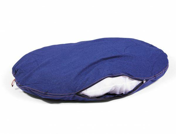 Kussen Bluedenim donkerblauw 104x69cm