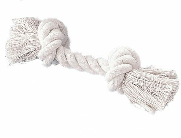 Speelgoed hond katoen been 2 knopen wit 700gr