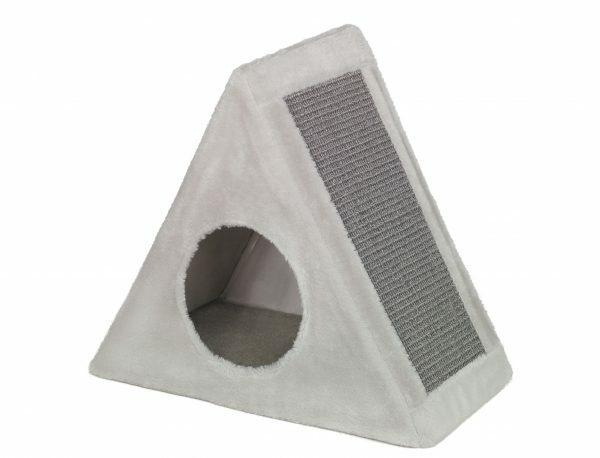 Krabhuis driehoekig Eline grijs 45x25x48cm