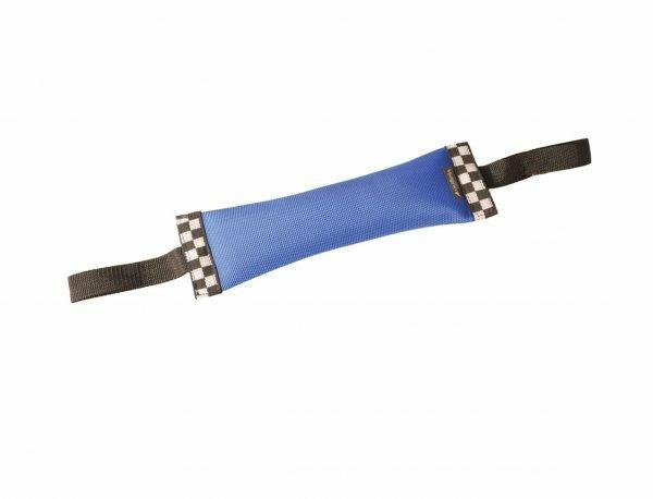 Speelgoed hond training nylon dummy blauw 30cm