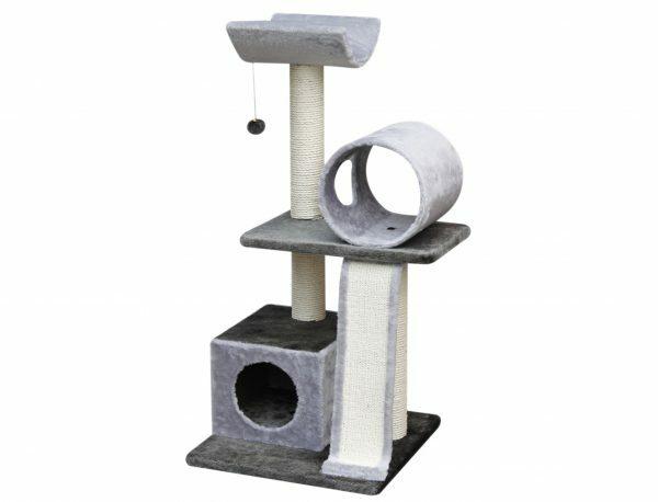 Kattenklim Kano grijs-antraciet 50x50x105cm