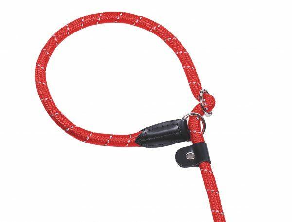 Lasso nylon rond reflect rood 9mmx170cm