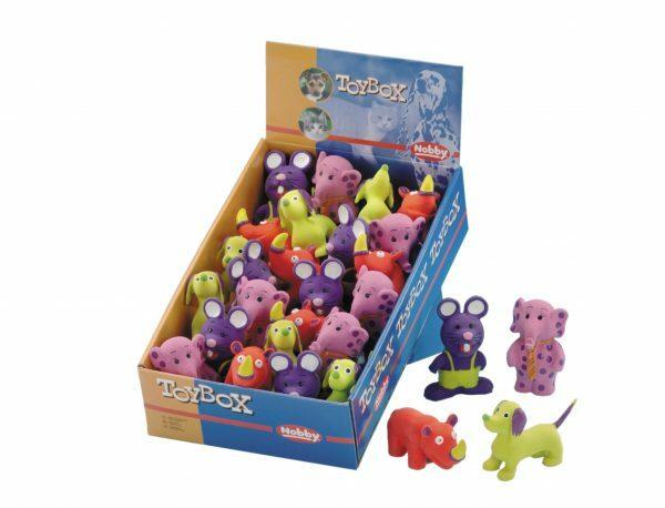 DIS24  Speelgoed hond latex dieren Ass. 9cm