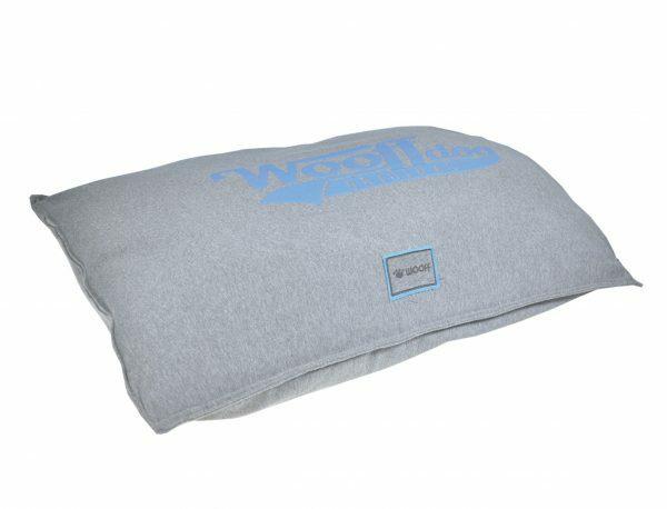 Kussen comfort Wooff Jersey grijs/aqua 100x70cm