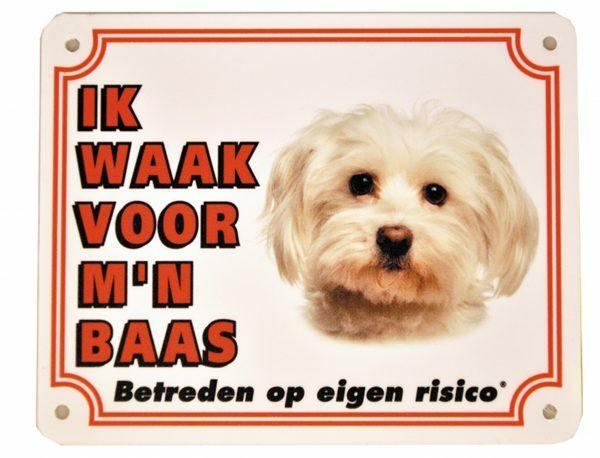 Waakbord PVc Malterzer wit NL