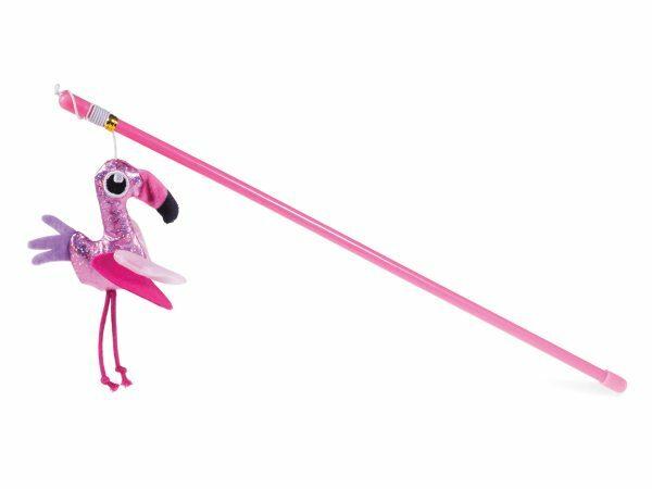 Speelgoed kat hengel flamingo 40cm