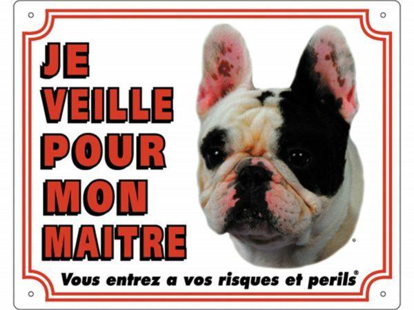 Waakbord PVc Franse Buldog wit FR