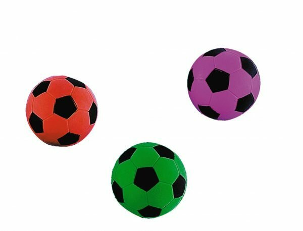 Speelgoed hond gummi voetbal Ass. Ø6cm