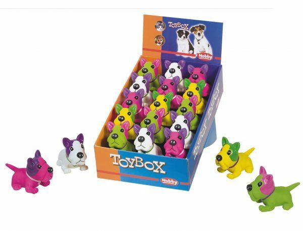 DIS16 Speelgoed hond latex mops Ass. 12,4cm