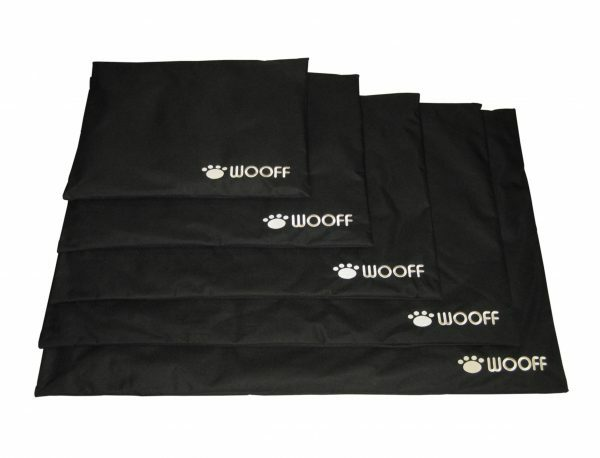 Platte matras Wooff zwart 70x110 cm