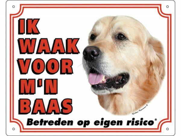 Waakbord PVc Golden Retriever wit NL