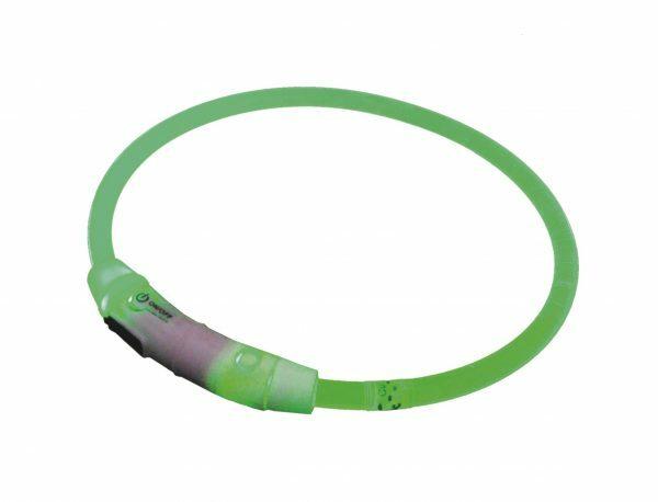 LED Lichtgevende halsband Visible groen 45cm USB