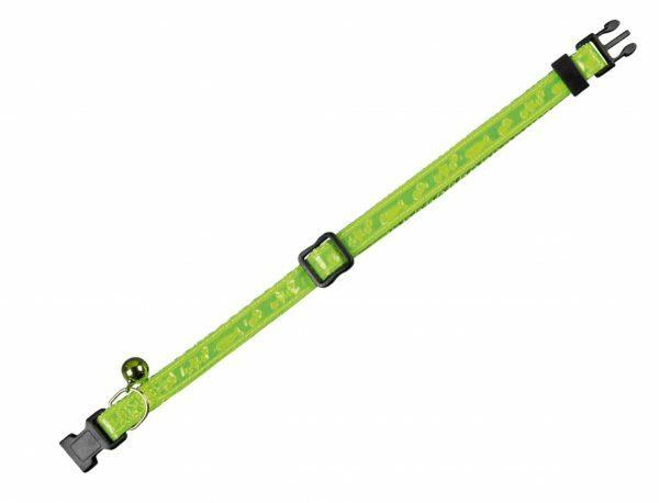 Halsband kat Neon groen 10 mm x 20-30 cm