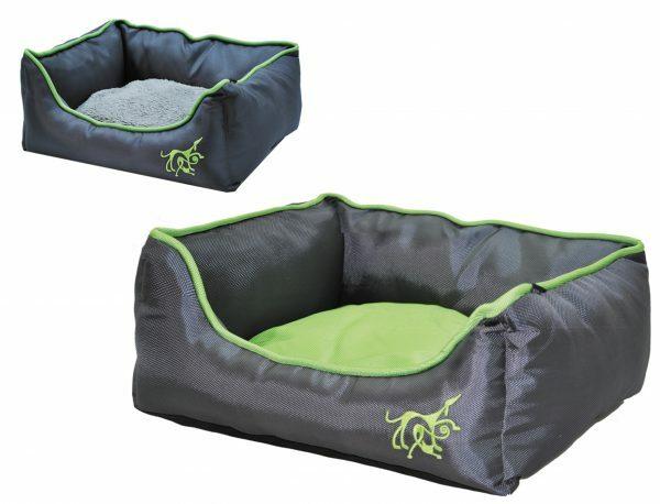 Hondenmand Acido grijs/groen 75x60cm