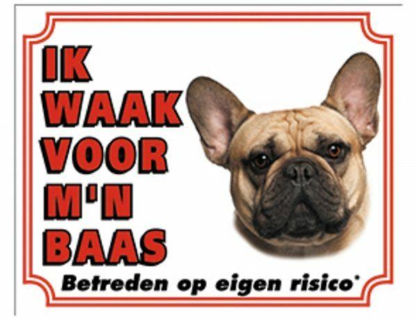 Waakbord Franse Buldog NL
