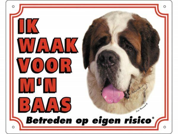 Waakbord PVc Sint-Bernard wit NL
