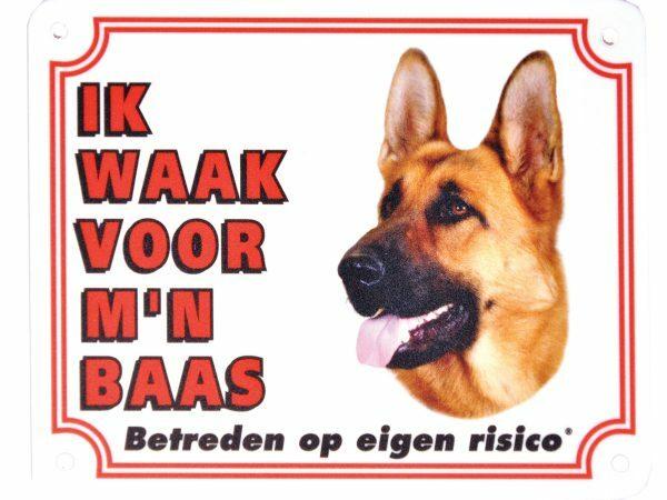 Waakbord S Duitse Herder NL