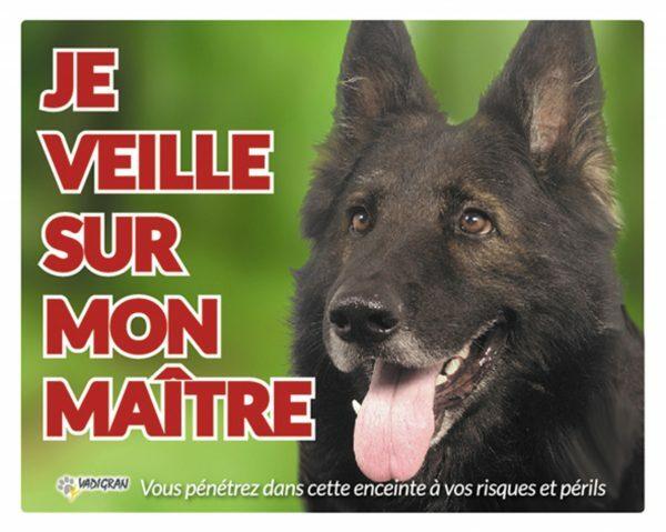 Waakbord foto hond Groenendaeler FR