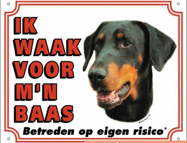 Waakbord S Doberman NL
