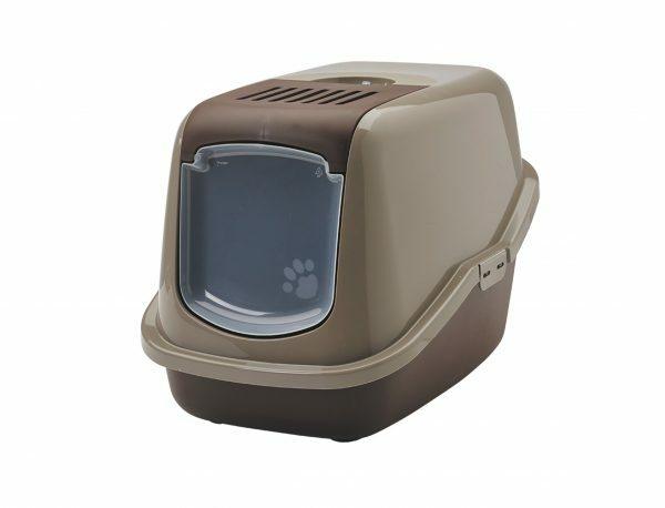 Toilethuis Nestor grijs/bruin 56x39x38,5cm
