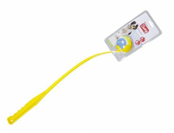 Speelgoed hond shooter+tennis geel 65cm