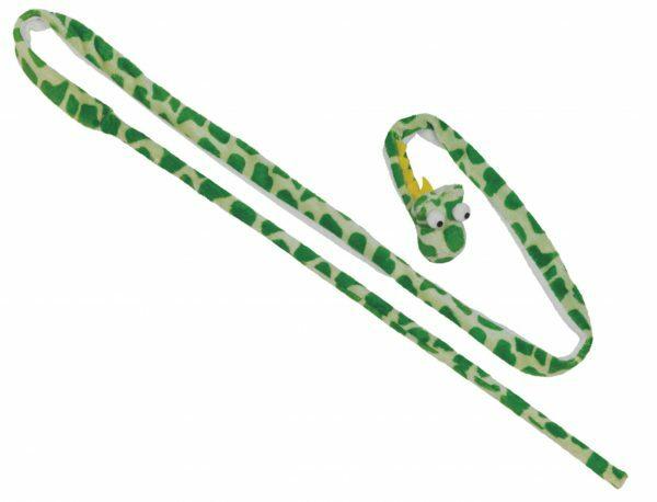 Pluche hengel met bel & catnip groen