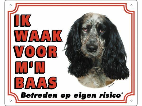 Waakbord PVc Engelse Cockerspaniël wit NL