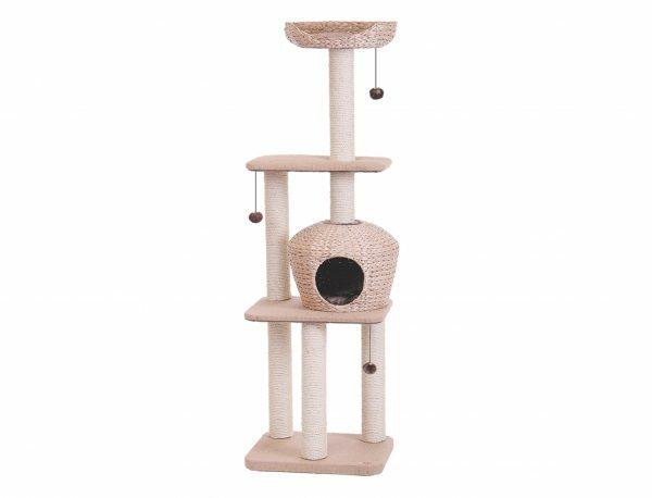 Kattenklim Nanuk lichtbruin 50x40x156cm