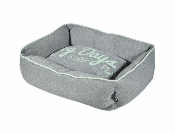 Hondenmand Dog Days Jersey grijs/munt 60x40x18cm