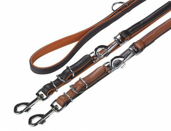 Politieleiband chara Leder zw/cgc 200cmx22cm