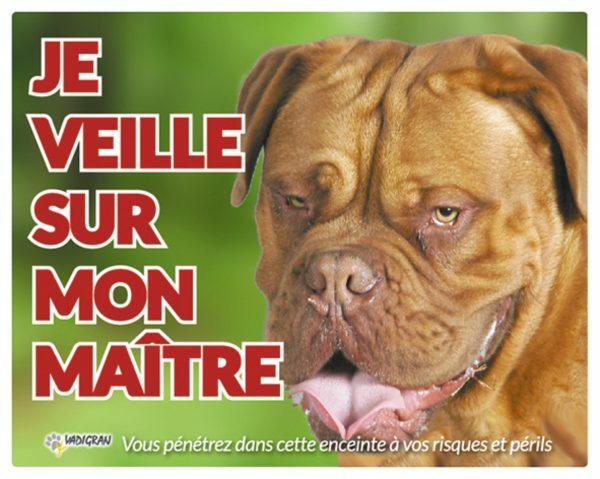 Waakbord foto hond Bordeaux FR