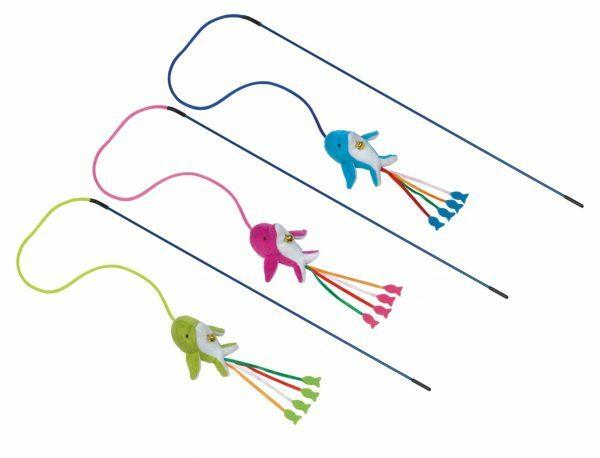 Speelgoed hengel met bel dolfijn& catnip S Ass.