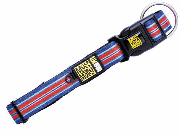 Halsband Hampton Strip Blue M 20mmx34-55cm