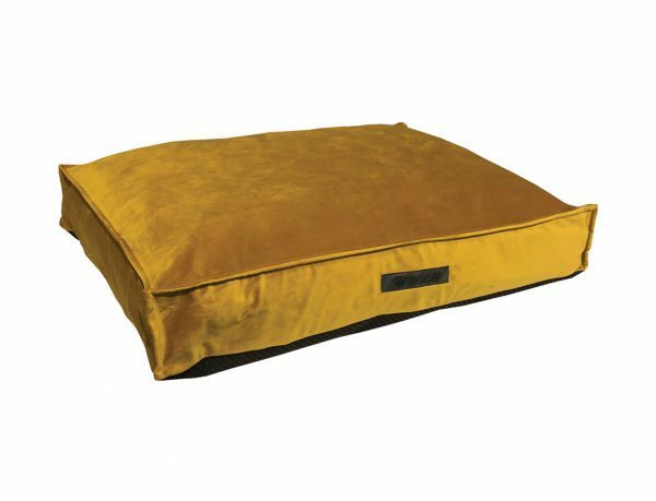 Matras Wooff fluweel geel 75x55x15cm