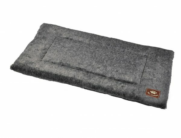 Platte matras Coban donkergrijs 75x52cm