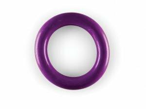 Speelgoed hond rubber ring paars Ø15cm