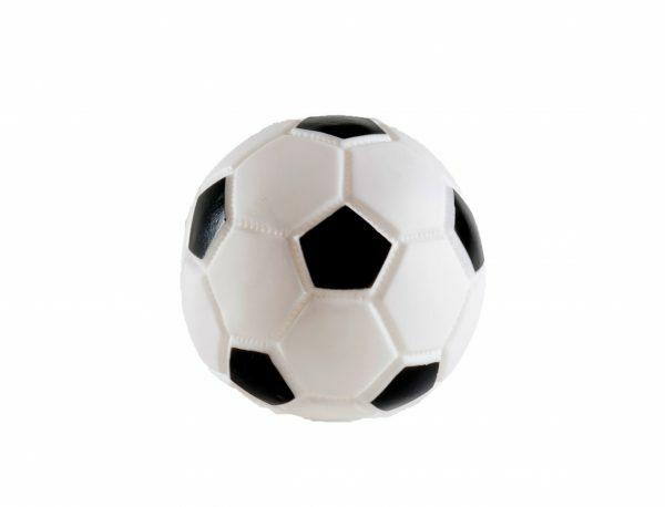 Speelgoed hond vinyl voetbal 10cm