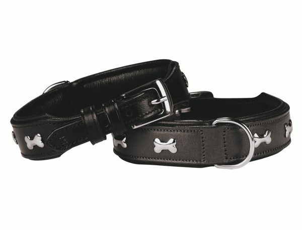 Halsband cerro Leder zwart 35 cm x 30 mm