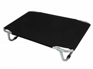 Bed aluminium zwart 100x60cm