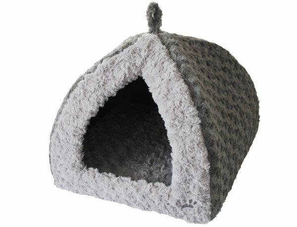 Tipi fleece Modern grijs/wit 40x40x35cm