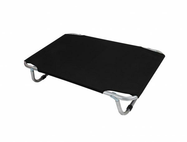 Bed aluminium zwart 60x40cm
