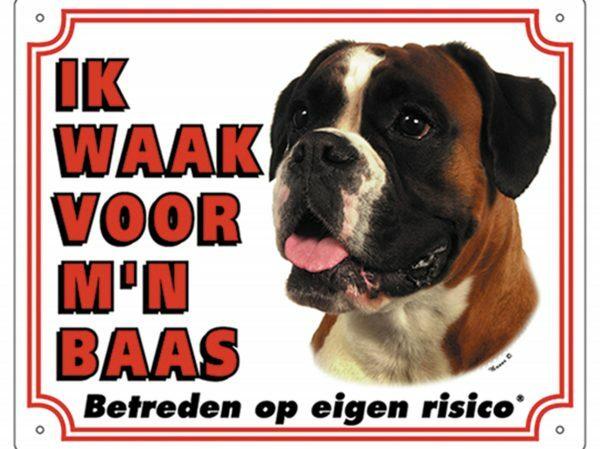 Waakbord PVc Boxer wit NL