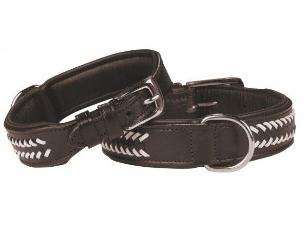 Halsband Loreto Leder donkerbruin 35 cm x 30mm